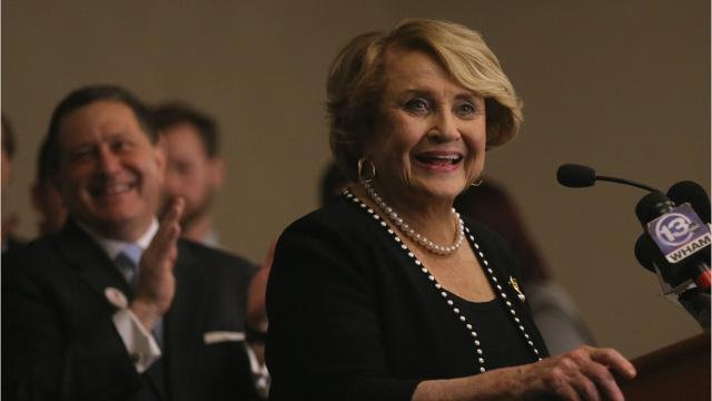 Congresswoman Louise Slaughter died Friday at age 88.  She served the greater Rochester community, starting as a Monroe County legislator in 1976.