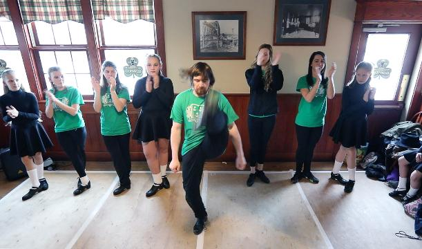 Austen Kelly, 23, of Rochester, performs with the Jamieson Irish Dance & Creative Arts at McArdle's Restaurant. Austen, who has autism, is ranked fourth and earned a qualification to the World Irish Dance Championships.