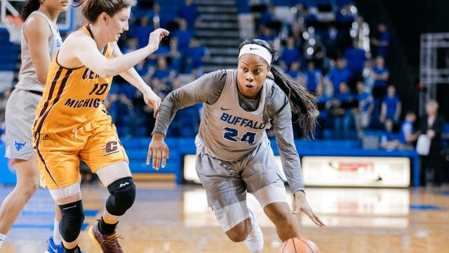 The 2014 All-Greater Rochester Player of the Year transferred from UMass and in her first season with the University at Buffalo she leads the team in scoring as they head into Saturday's NCAA Tournament.