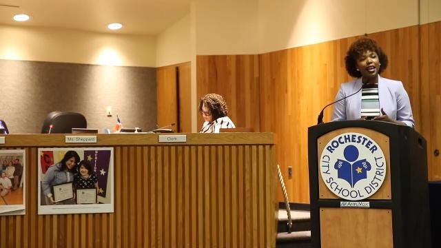 RCSD school board member rips district and state during meeting