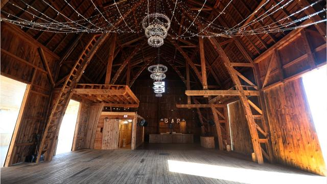 This Wells barn in Wheatland  is decorated for the upcoming wedding season and is one of the newer barns available as an event space.