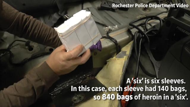 How does heroin get to Rochester?