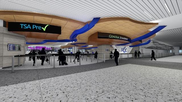 Face recognition and quicker security check are part of the airport upgrades.