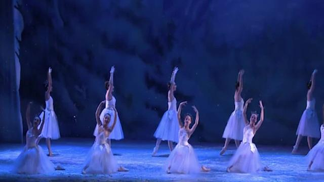 """Adam Kittelberger dances with the Rochester City Ballet as the Snow KIng in """"The Nutcracker."""""""