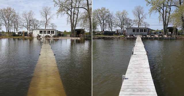Lakeshore bar owners look back on the flooding that took place around Lake Ontario last May.