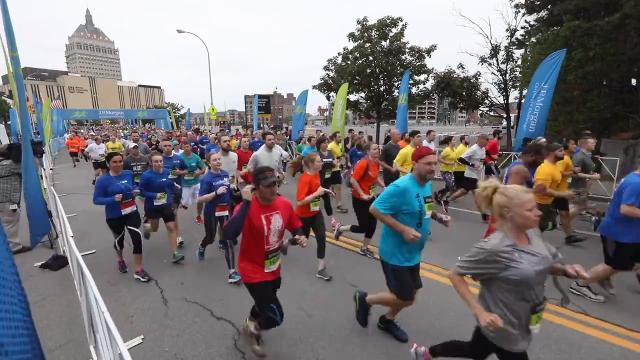 Sights and sounds as more than 8,000 take part in the annual J.P. Morgan Corporate Challenge in downtown Rochester. (May 22, 2018)