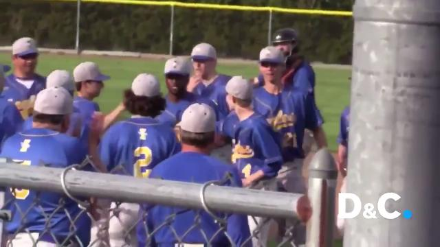 Irondequoit center fielder Will Porter made a catch and threw a runner out on the fly to pull off the double play and preserve a late game lead in a win over Pittsford Mendon. That play edged out East baseball and Webster Thomas softball.