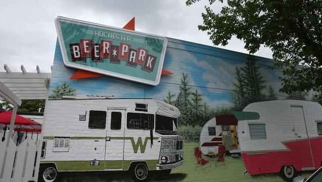 Rochester Beer Park, which opens this weekend, features an indoor Winnebago food truck and 60 beers on draft. (June 1, 2018)