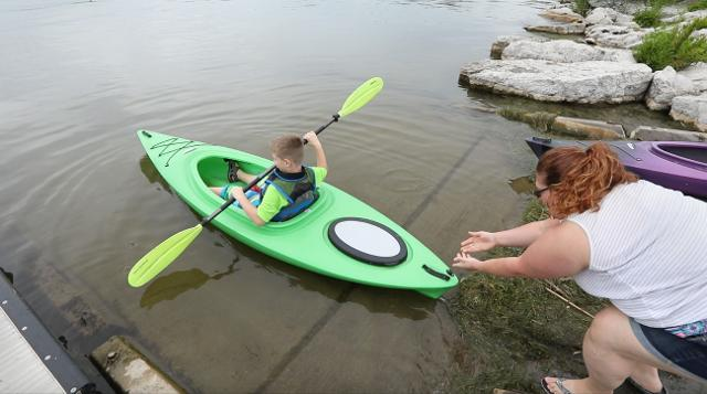 Theresa Reed and her sons love kayaking. 'It's one of our favorite things to do.'