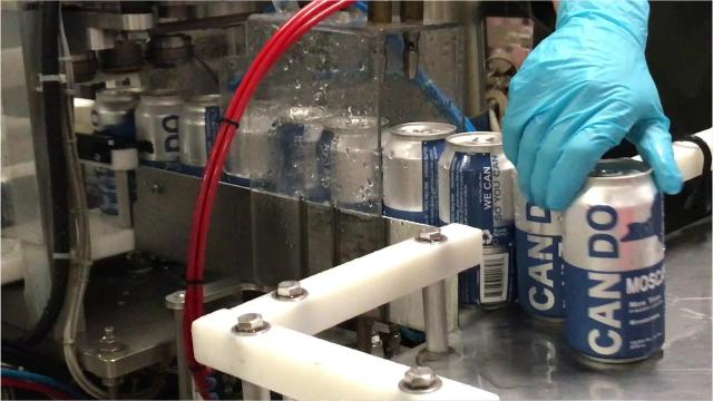 Watch Can Do wines get canned at Bellangelo winery in the Finger Lakes.