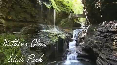 Reporter Victoria E. Freile shows what's it's like to walk under waterfalls and over a suspension bridge at the park.