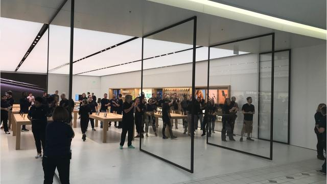 The new Apple Store is 9,000 square feet at the old Rite Aid location in Eastview Mall. It opened Friday, Sept. 21, 2018.