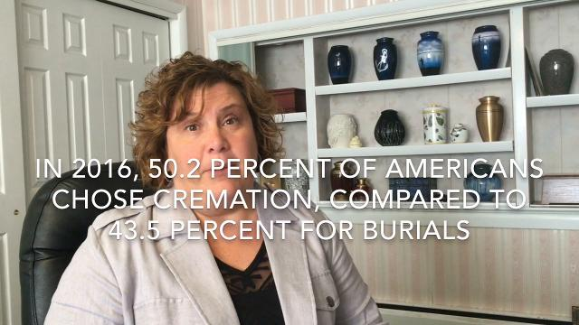 Bradley Funeral Home manager Jill Bradley Ingram talks about why more Americans are choosing cremation over burial these days.