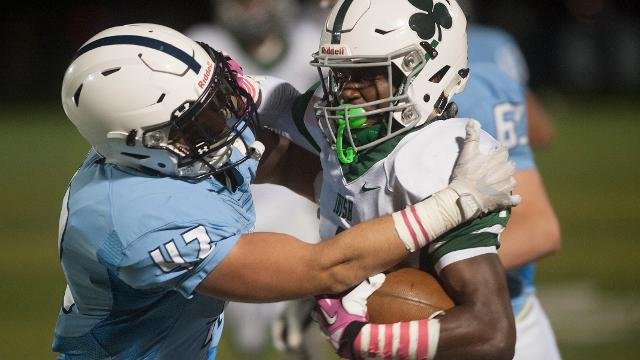 From 2017 season: Furious rally helps Camden Catholic remain unbeaten in 25-21 win over Shawnee.