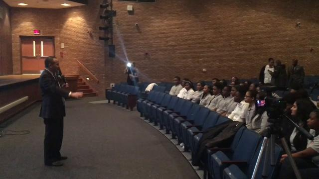 NJ Attorney General Christopher Porrino and Burlco prosecutor Scott Coffina met with Willingboro High students to discuss the new initiative which aims to ensure all traffic stops end safely.