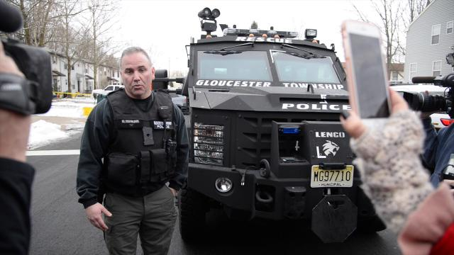 Gloucester Township Deputy Police Chief David Harkins credits their armored vehicle with saving officer's lives.
