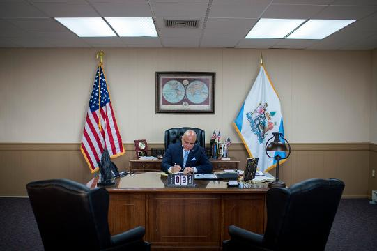 Camden Mayor Francisco 'Frank' Moran shares insight into his administration plans prior to his inauguration ceremony Tuesday, Jan. 9, 2018 in Camden.
