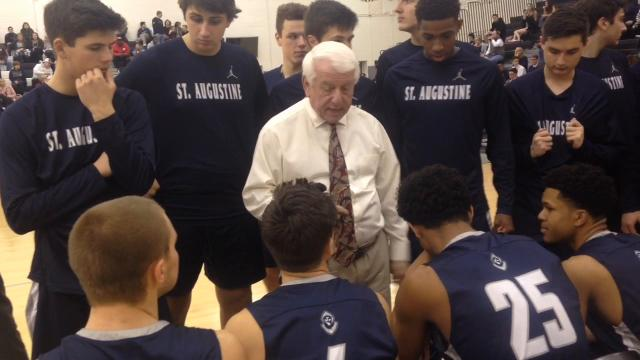 St. Augustine's Paul Rodio became the third coach in state history to record 900 career victories