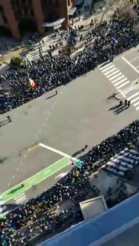 WATCH: Birds-eye view of Eagles Super Bowl parade