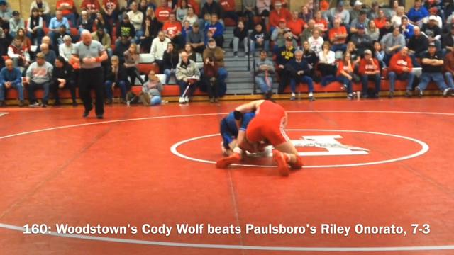 Paulsboro wrestling defeated Woodstown for its 10th straight sectional championship on Friday night