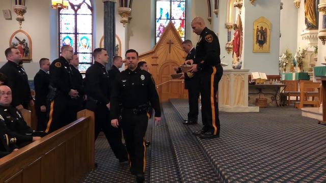 Gloucester City's religious leaders blessed the Holy City's emergency responders at St. Mary's Church on Monmouth Street .