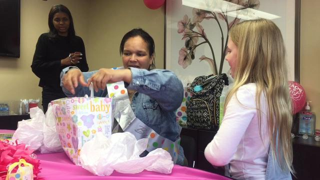 A Woodstown third-grader hosted a baby shower for a Camden mom she's never met.