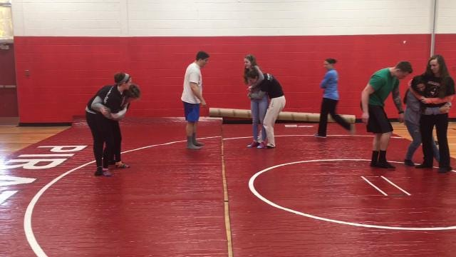 Two Cinnaminson police officers are teaching Cinnaminson High School female senior students self-defense lessons.