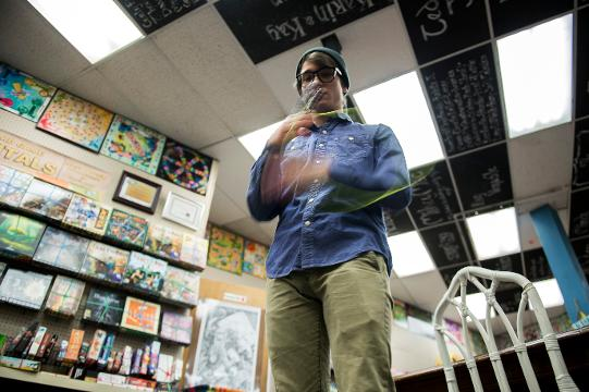 Yo-yo world champion Tyler Severance, 26, discusses the sport and upcoming Geekfest Tuesday, March 27, 2018 in Woodbury, N.J.