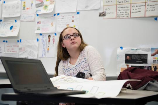 Gabrielle Callaway, 13, a seventh grader at Merchantville Elementary School discovered she  and her teacher Shawn Waldron are distant cousins, dating back 300 years.