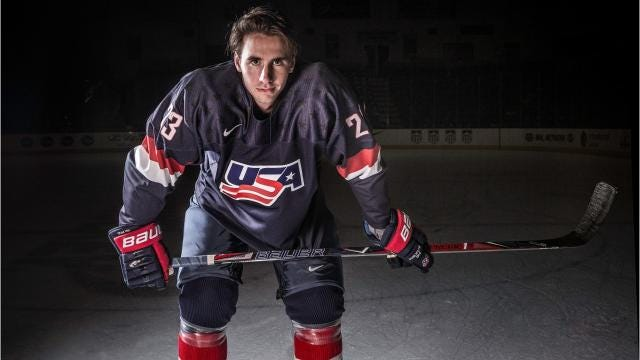 Voorhees native Mattias Samuelsson is ranked 21st among North American skaters by the NHL's central scouting service ahead of the draft in Dallas on June 22 and 23. He is expected to be a first-round pick.