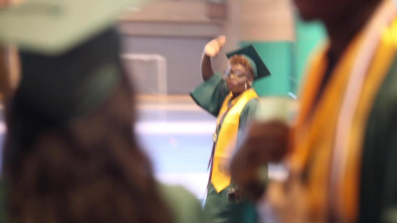 Ramapo High School graduates celebrate their commencement ceremony at Rockland Community College in Suffern, June 25, 2017. Video by Michael Giacalone