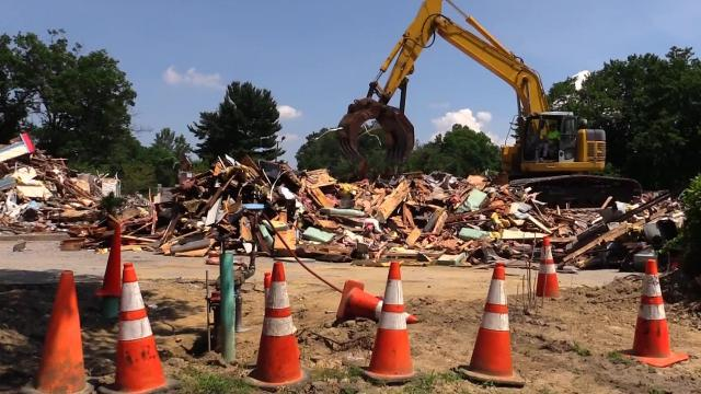 The former El Dorado West diner building was demolished Thursday, July 20, 2017, to make way for a new service center building for Tarrytown Honda. (Video by Tania Savayan/The Journal News)
