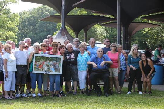 The D'Anna family, with deep Yonkers roots, gather for the 50th reunion at Redmond Field Aug. 13, 2017 in Yonkers.