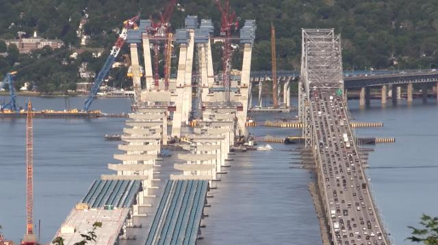 A compilation of time-lapse videos starting in 2014 with the beginning of construction of the replacement for the Tappan Zee Bridge, the Mario M. Cuomo Bridge.