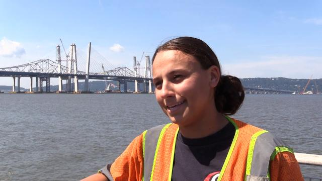Five workers talk about their roles in the building of the replacement for the Tappan Zee Bridge, the Gov. Mario M. Cuomo Bridge.