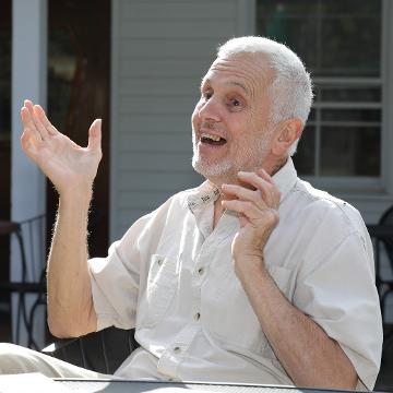 Ed Bieber, founder of The Nature Place Day Camp in Chestnut Ridge, talks about the camp and his Parkinson's disease, Oct. 6, 2017.