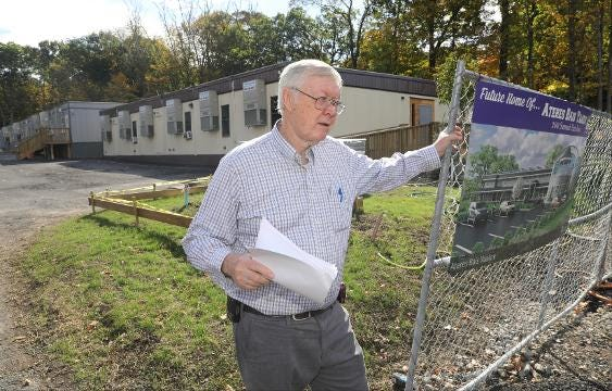 Gorden Wren Jr. talks about the property at the Ateres Bais Yaakov Academy of Rockland at 200 Summit Park Road in New Hempstead.