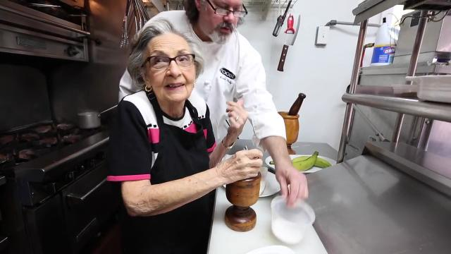 Isabel Pujol-Santini recently arrived from Puerto Rico to stay with her daughter, Maria Santini, who co-owns Roost restaurant in Sparkill, along with chef Kevin Reilly Thursday, Oct. 12, 2017.