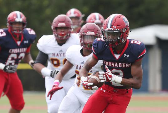 Cardinal Hayes defeated Archbishop Stepinac 47-21 in football action at Stepinac High School in White Plains Oct. 14, 2017. Frank Becerra Jr./Lohud