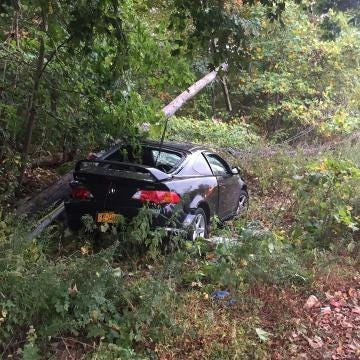 A 27-year-old Yonkers man was arrested on Oct. 16, 2017, after Harrison police said he drove drunk, crashed into a bus stop shelter and fled the scene.
