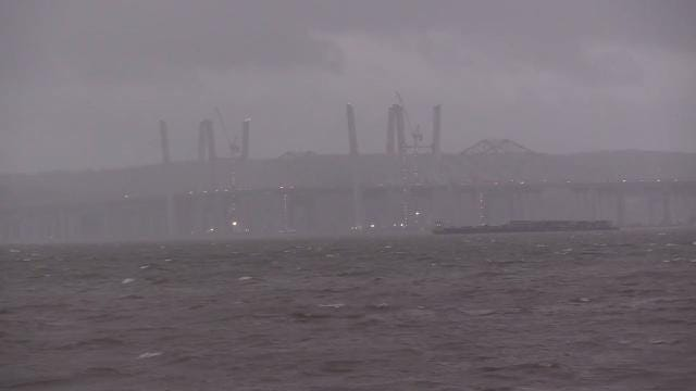 Video: A windy start to a wet day