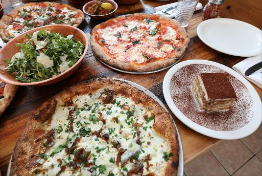 Matt DiGesu, co-owner and chef talks about his new restaurant, Pizzeria LaRosa in New Rochelle.