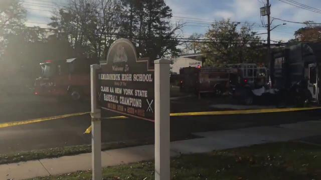 Two dead in crash with garbage truck near Mamaroneck High School