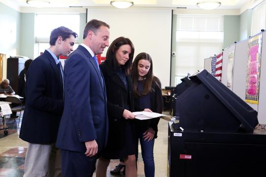 Video: Westchester County Executive Rob Astorino casts his vote