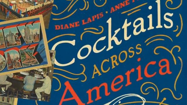 Anne Peck Davos and Diane Lapis authored a book which highlights vintage postcards and corresponding period cocktail recipes.