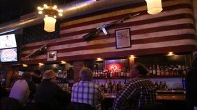Video: Eagle Saloon gun decor fires up controversy