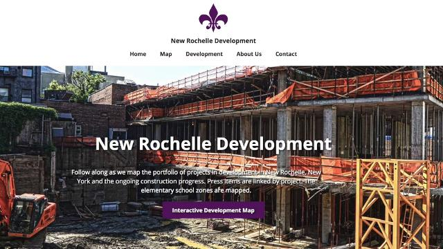 Karen and John Hessel developed an interactive map of construction projects in New Rochelle.