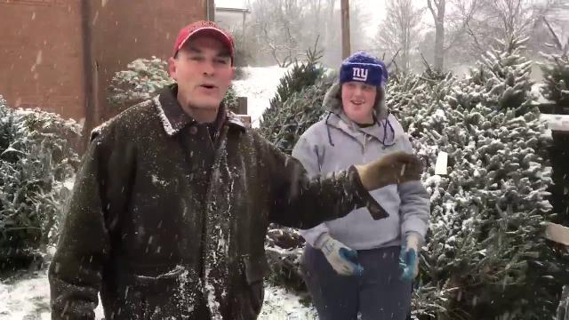 Video: First snow, Christmas sales in Dobbs Ferry