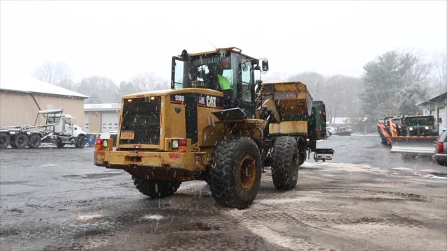 The Ramapo Highway Department prepares for the snow.