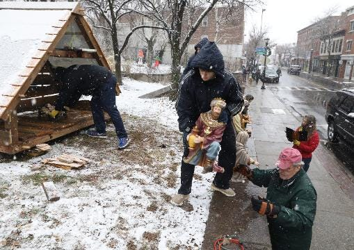 Video: Trees, Nativity, Shopping and Snow